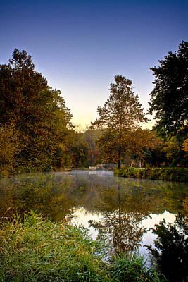 Photograph - Bridge And Tree Sunrise  by Roger Passman