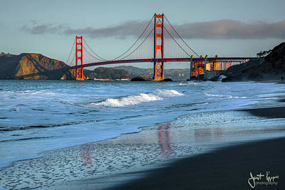 Photograph - Bridge And Waves by Janet Kopper