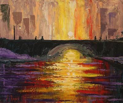Painting - Bridge by Angel Reyes