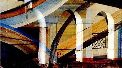 Digital Art - Bridge Arch Abstract #1 by Anita Burgermeister