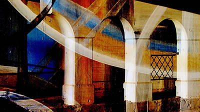 Digital Art - Bridge Arch Abstract 2 by Anita Burgermeister