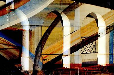 Digital Art - Bridge Arch Abstract #3 by Anita Burgermeister