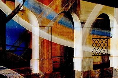 Digital Art - Bridge Arch Abstract #4 by Anita Burgermeister