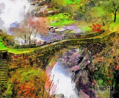 Arial View Painting - Bridge Arial View by Catherine Lott