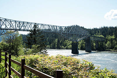 Photograph - Bridge At Cascade Locks by Tom Cochran