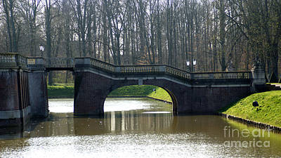 Photograph - Bridge At Castle Nordkirchen by Eva-Maria Di Bella