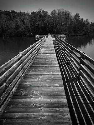 Photograph - Bridge At Chester State Park In Black And White by Kelly Hazel