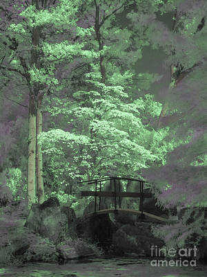Photograph - Bridge At Clark Gardens by Jeff Breiman