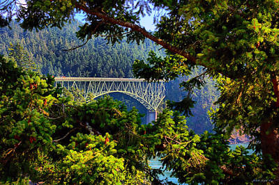 Bridge At Deception Pass Art Print by Michelle Joseph-Long