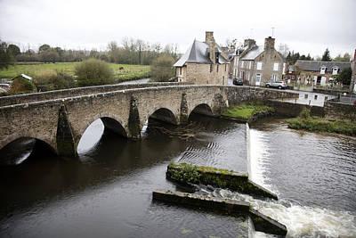 France Photograph - Bridge At Ducey by Hugh Smith