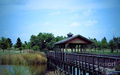 Texas Lake Photograph - Bridge At Fair Park by Linda James