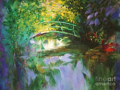 Painting - Bridge At Giverny by Madeleine Holzberg