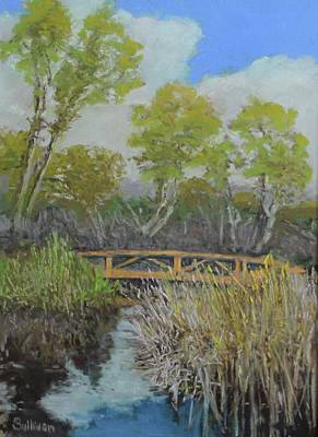 Pastel - Bridge At Madrona by Dennis Sullivan