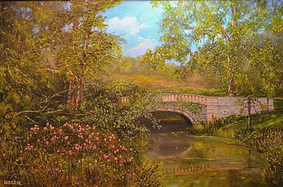 Bridge At Minterne Art Print
