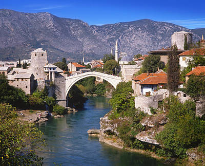 Mostar Photograph - Bridge At Mostar  by Richard Piper
