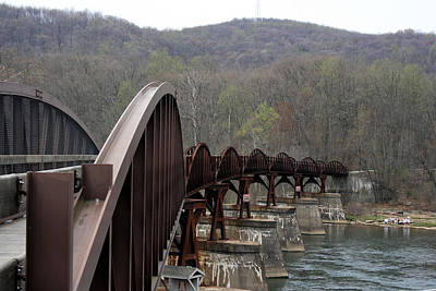 Photograph - Bridge At Ohiopyle Pennsylvania by George Jones