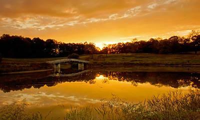 Bridge At Sundown Art Print by Keith Bridgman