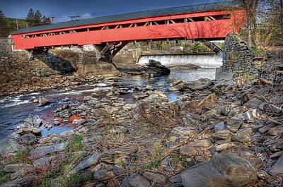 Taftsville Photograph - Bridge At Taftsville Vermont by Michael Ciskowski