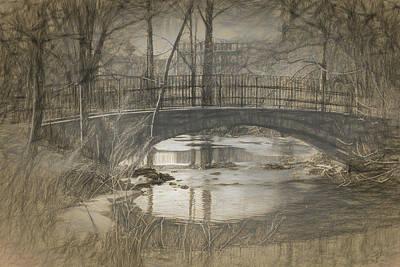 Drawing - Bridge At The Fens by Thomas Logan