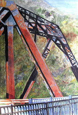 Painting - Bridge At Thurmond Wv by Sandy McIntire
