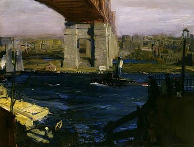 Bellows Painting - Bridge, Blackwell's Island by George Bellows