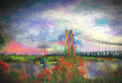 Digital Art - Bridge Blues by Terry Cork