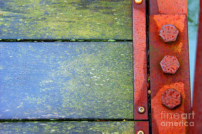 Photograph - Bridge Bolts Bright by Karen Adams