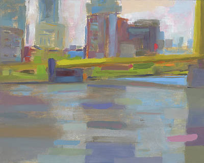 Pittsburgh Pa Painting - Bridge by Chris N Rohrbach