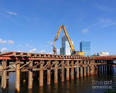 Photograph - Bridge Construction In Kaohsiung City by Yali Shi