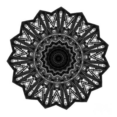 Mandala Photograph - Bridge Construction Kaleidoscope By Kaye Menner by Kaye Menner
