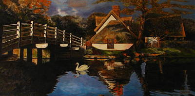 Bridge Cottage Art Print