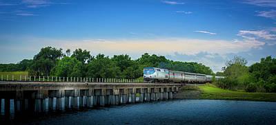 Sun Rays Photograph - Bridge Crossing by Marvin Spates