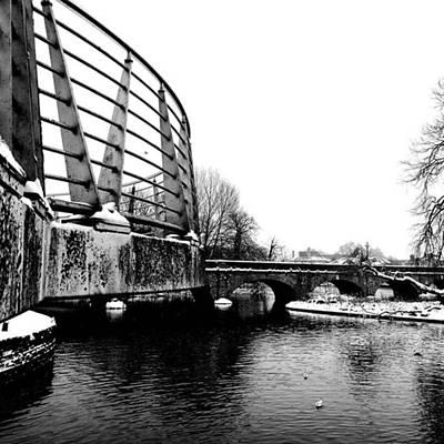 Warwickshire Photograph - Bridge Detail II. #bridge #snow #river by John S