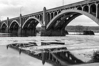 Photograph - Bridge In Black And White by Menachem Ganon