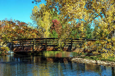 Photograph - Bridge In Fall Colors by Dawn Key