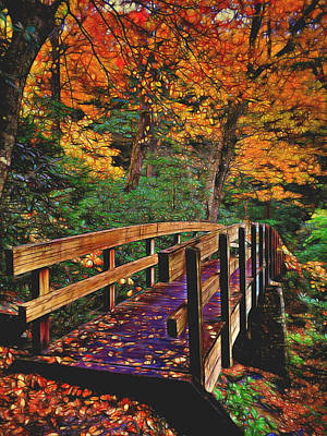 Bridge Photograph - Bridge To An Enchanted Forest  by Frank Montoya