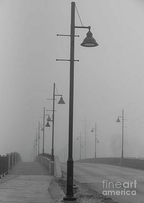 Photograph - Bridge In Fog by David Bearden