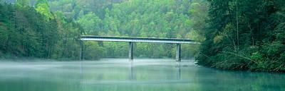 Bridge In Fog, Great Smokey Mountain Art Print