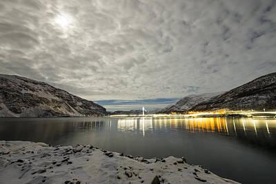 Pro Mixed Media - Bridge In Kofjord Alta by Helge Larsen
