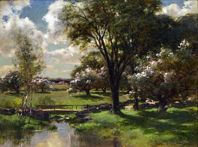 Bridge In Late Spring Art Print by John Appleton Brown