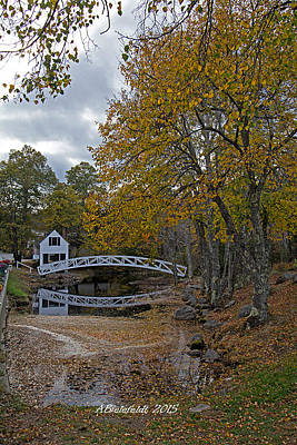 Bridge Photograph - Bridge In Maine by April Bielefeldt