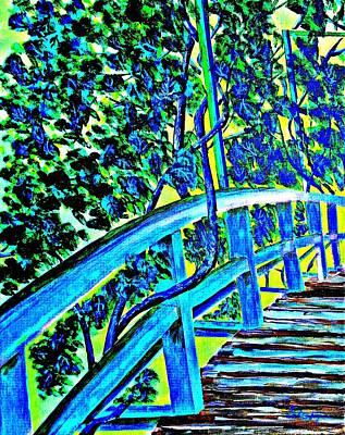 Japanese Bridge In Monet's Garden Original by Irving Starr