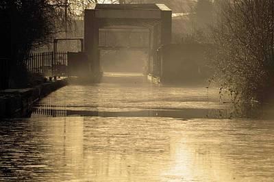 Martinspixs Photograph - Bridge In Morning Sun And Mist  by Martin Matthews
