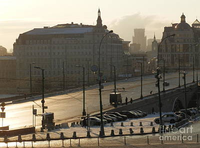 Russia Photograph - Bridge In Moscow by Margaret Brooks