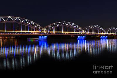 Bridge In Riga  Art Print