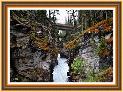 Priska Wettstein Land Shapes Series - Bridge In The Forest - Canada L A S With Decorative Ornate Printed Frame. by Gert J Rheeders