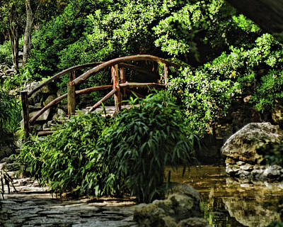 Photograph - Bridge In The Japanese Garden by Michael Ziegler