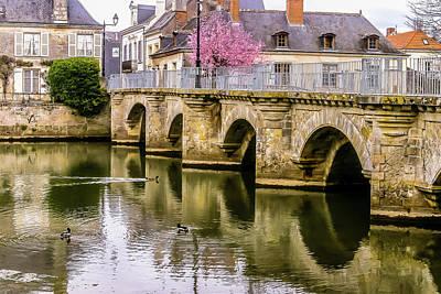 Bridge In The Loir Valley, France Art Print