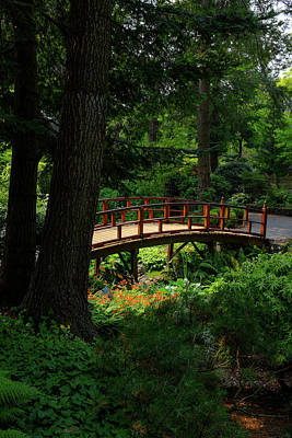 Photograph - Bridge In The Zen Garden by Keith Boone
