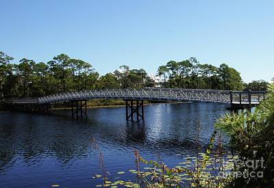 Vacation Photograph - Western Lake Bridge by Megan Cohen